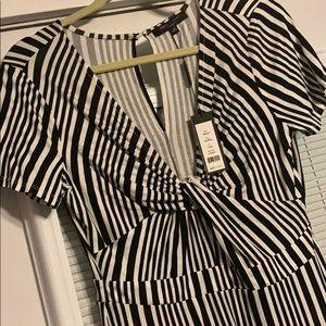 Romeo &Juliet couture black/white stripe jumpsuit